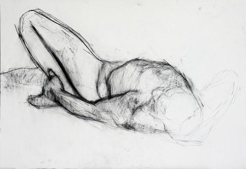 männl. Akt 2012, 100x70 cm, Kreide