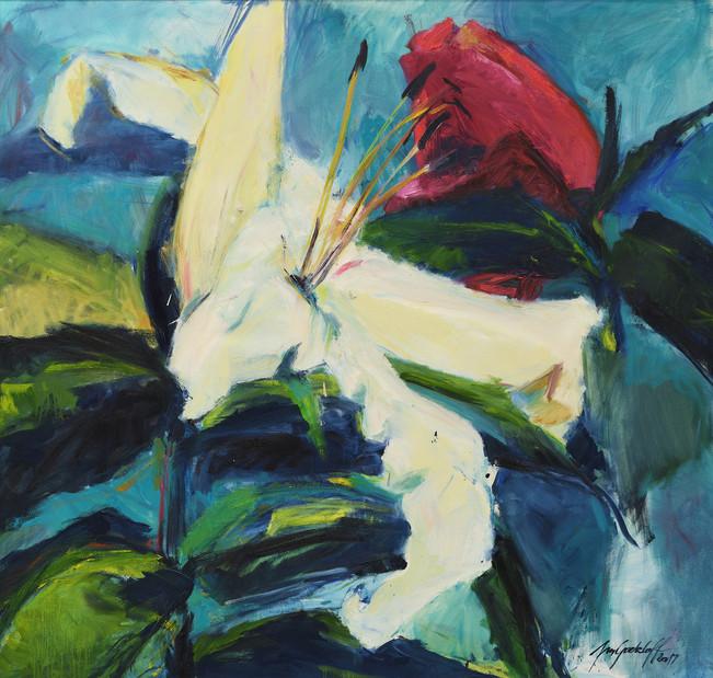 Lilie 2017, 110x115 cm, 9529