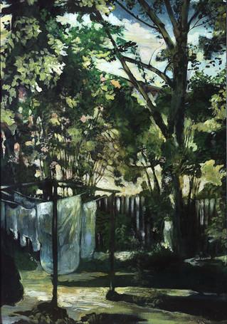 Lukas-Johannes-Aigner,-'Im-grünen-Bereich',-Acry__Öl-auf-Leinwand,-90x70cm,-2004