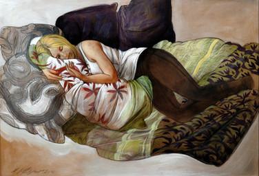 "Lukas Johannes Aigner, ""Anastasia"", Acryl auf MdF, 68x94cm, 2012"