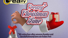 Frohe Festtage wünscht Creazy-Design