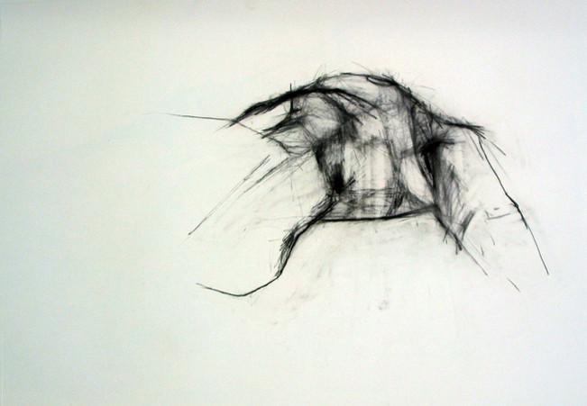 Brustraum 2006, 100x70 cm, Kreide