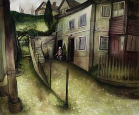 """Lukas Johannes Aigner, """"Achmed, mein Nachbar in Bad Ischl"""", Acryl auf MDF, 100x120cm, 2015"""