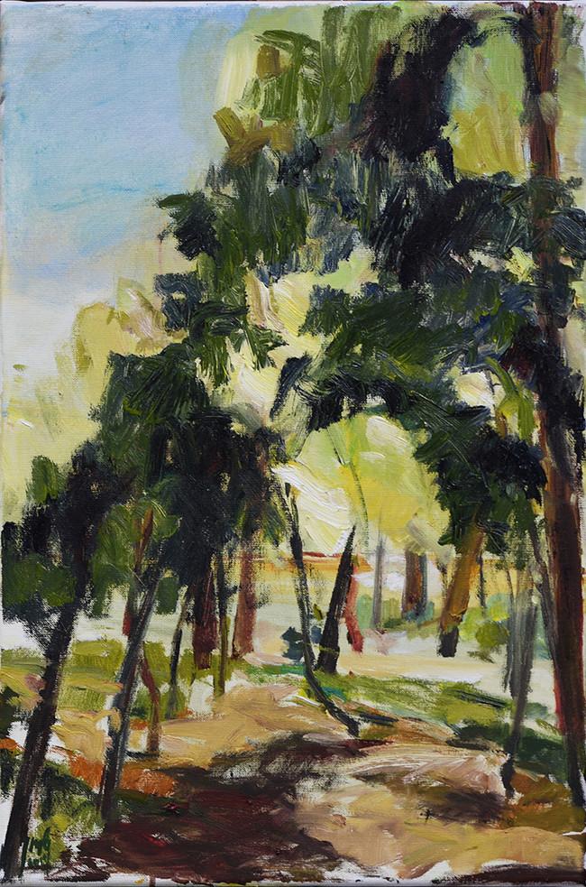 Waldblick 2019, (HR Martely), 40x60 cm_1002