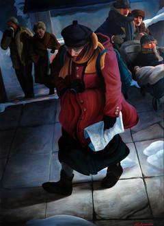 """Lukas Johannes Aigner """"Nach Plan verlaufen"""" Acryl auf MDF,190x140 cm, 2010"""