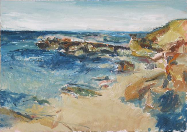 Küste vor Mazara 2012, Sizilien, 70x50 cm