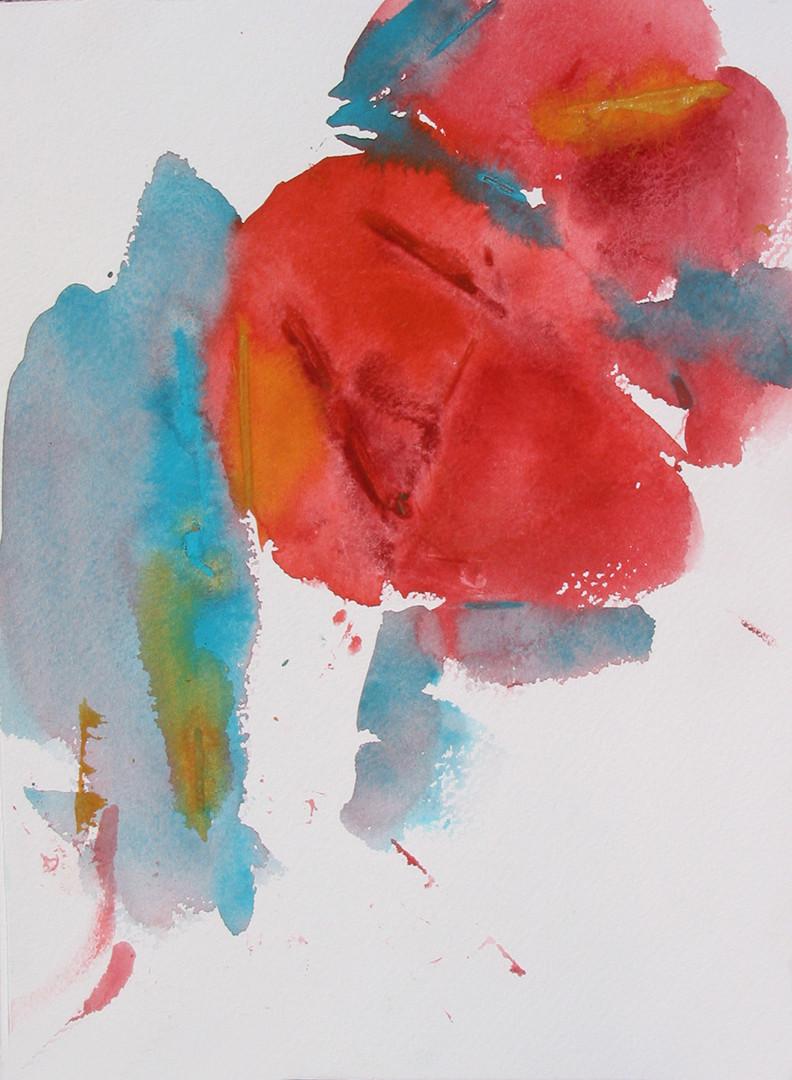 Mohnblumen 2009, Aquarell_30x40 cm