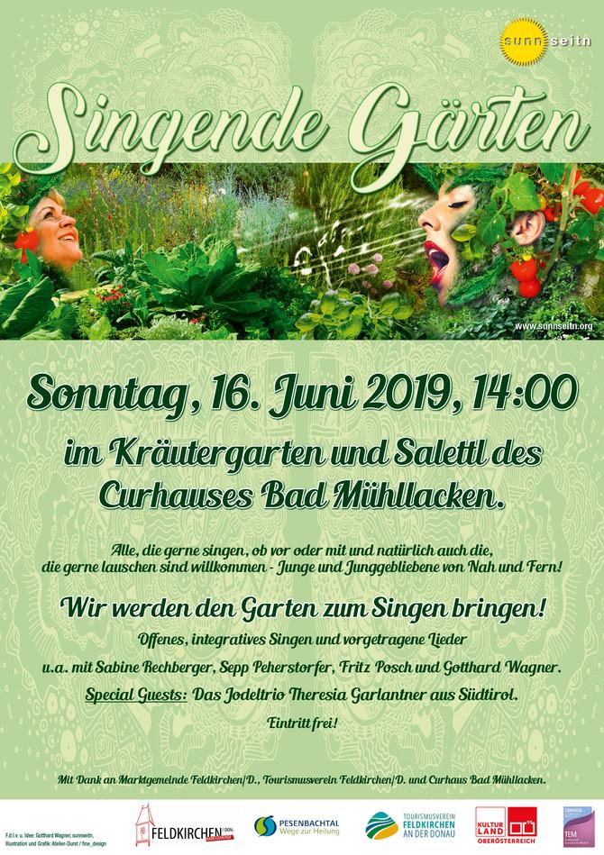 Singende Gärten 2019 Sonntag, 16. Juni 2019, 14:00