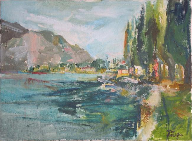 Gardasee 2004, 70x50 cm