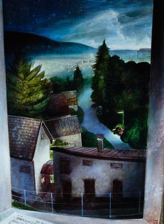 """Lukas Johannes Aigner """"Gute Nacht"""" Acryl auf MDF, 100x70 cm, 2015"""