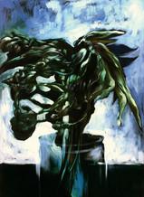 Lukas-Johannes-Aigner,-'Auferstehung-eines-Blumenstraußes',-Acryl_Öl-auf-Papier,-100x70-cm,-1998