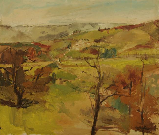 Frühling in Umbrien 2001, 75x65 cm
