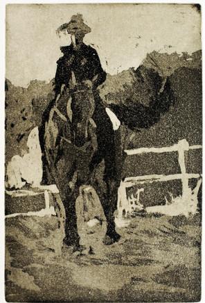 Pferd Uli 2017, 21x30 cm
