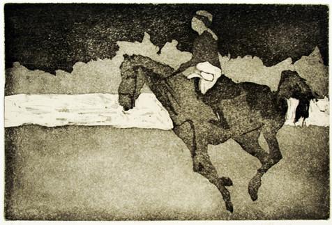Pferd Sarah 2017, 21x30 cm
