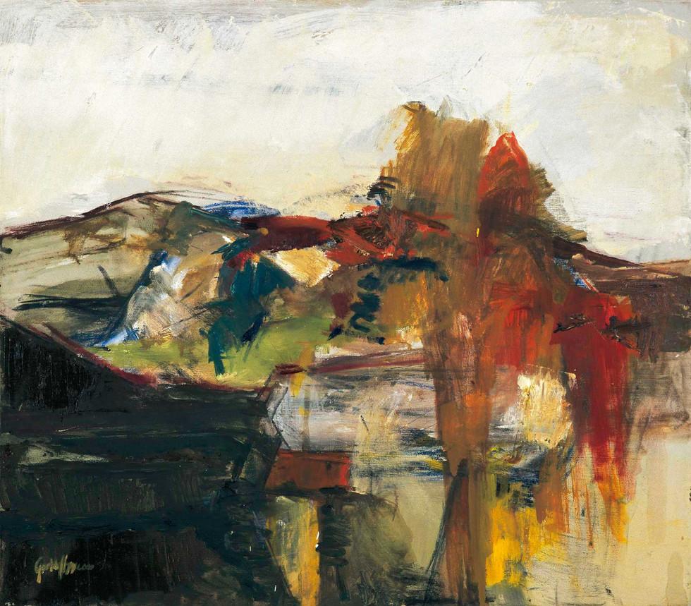 Blick aus dem Atelier 2000, 80x70 cm