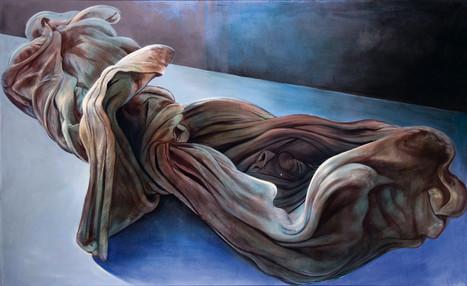 """Lukas Johannes Aigner, """"Mein Malerfetzen"""", Acryl/Öl auf Leinwand, kaschiert auf MDF, 157x245cm, 2008"""