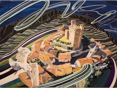 Ausstellung Beni Altmüller im Castello Museo Rocca dè Baldi Piemont