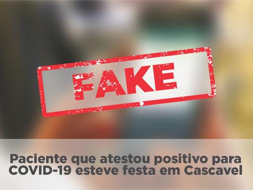 """""""Paciente infectada com o coronavírus esteve em evento em Cascavel?"""""""