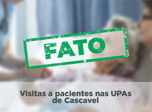 """""""Pacientes internados nas UPAs não poderão receber visitas?"""""""