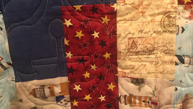 Quilt with Anchor Stitching