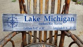 Lake MI Sign