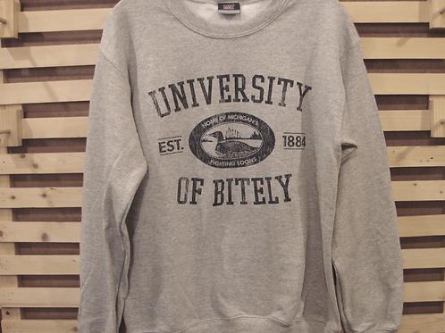 """""""University of Bitely"""" Crew Neck Sweatshirt"""