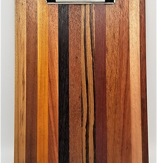 "12 1/2' x 9 1/2"" Exotic Wood Clipboard"