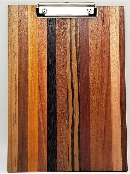 "12 1/2' x 9 1/2"" Exotic Wood Clipboard"