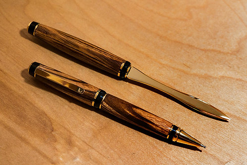 Cigar Pen and Opener Set - Goncalo Alves