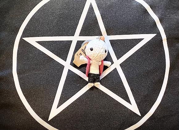 Voodoo Doll Keyring - Pink Coat