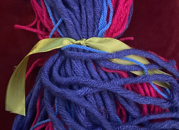 Poppet wig (purple & pink)