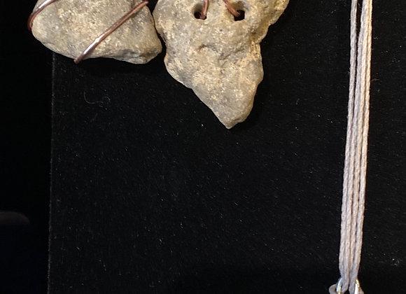 Hag stone necklace