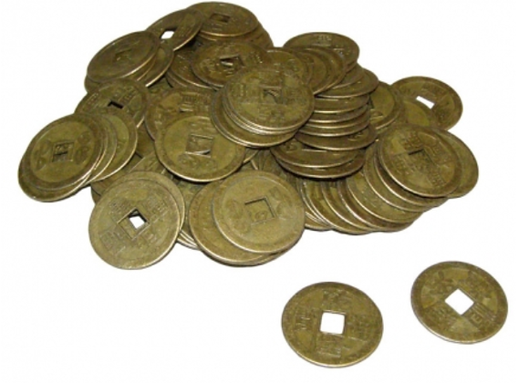 50 lucky Feng Shui Chinese coins