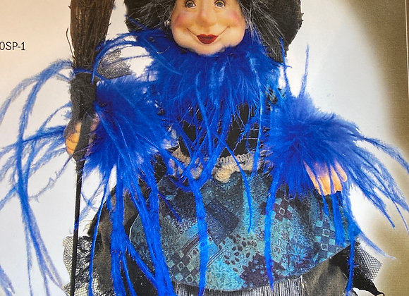 Alison Device blue 35cm witch