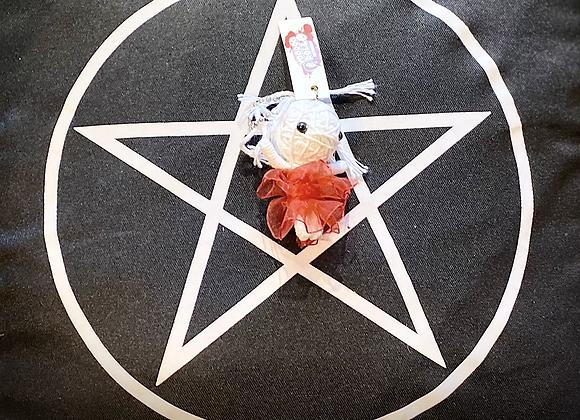 Voodoo Doll Keyring - Red Ribbon