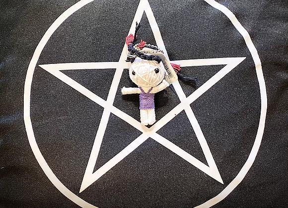 Voodoo Doll Keyring - Purple Dress