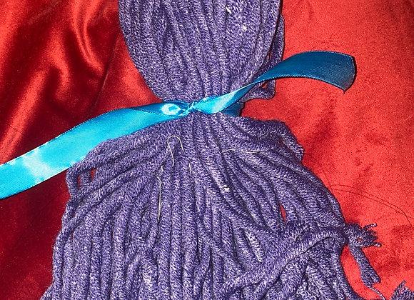 Poppet doll wig purple