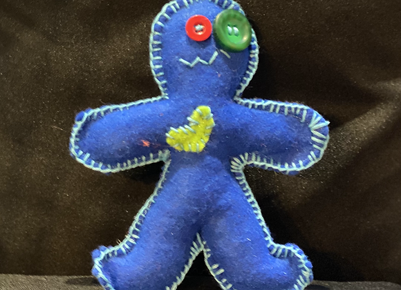 Handcrafted Poppet Doll - Blue