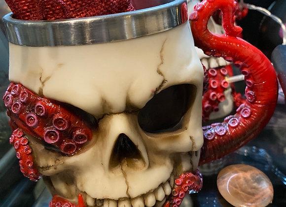 Skull 💀 🐍 snake tankard 16cm
