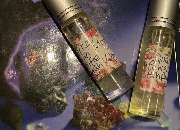 Clear Quartz Magickal Crystal - Rollerball Oil