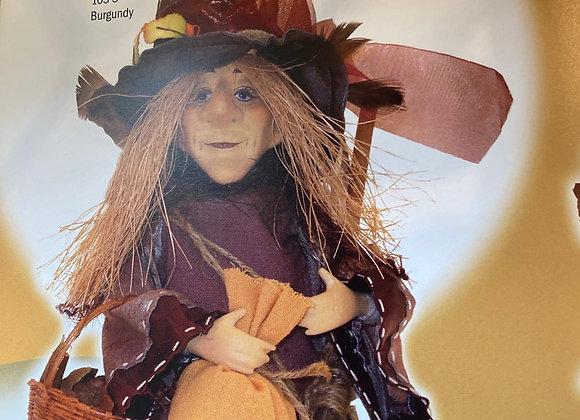 Amelia witch standing purple 24cm