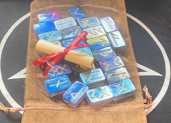 Resin Runes - Blue Sparkle