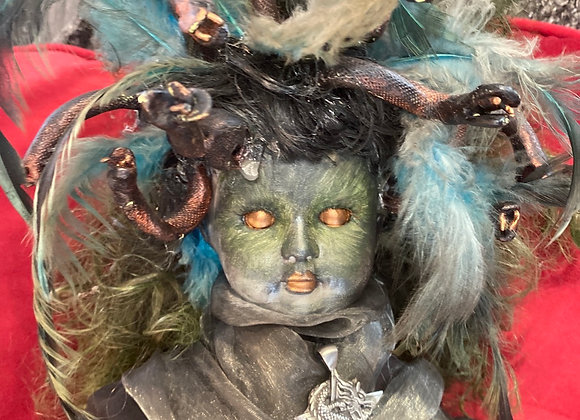Medusa witches doll