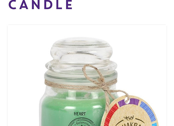Chakra Candle Heart Scented