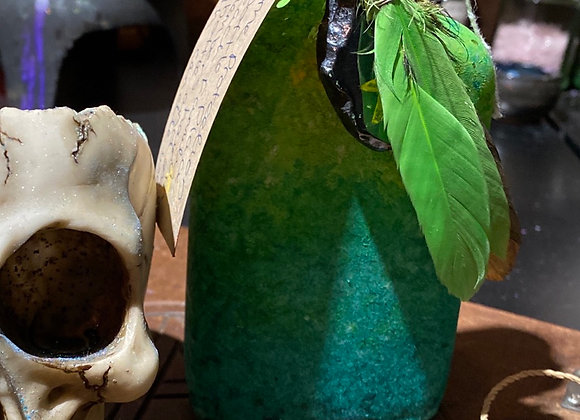 Witch bottle green