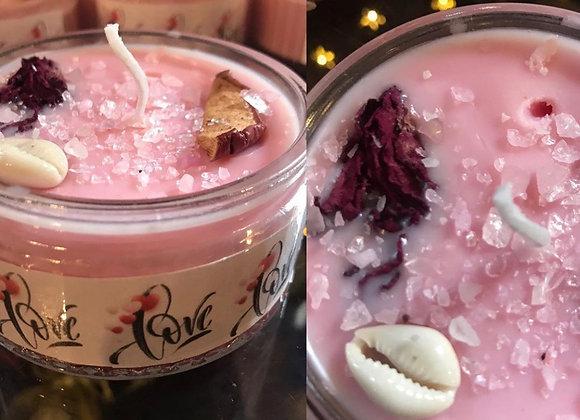 Love Candle Ramikin Jar