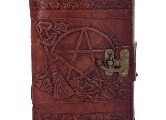 Pentagram Leather Emboss Journal+Lock