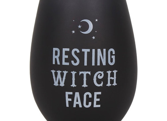 Resting witch face wine glass