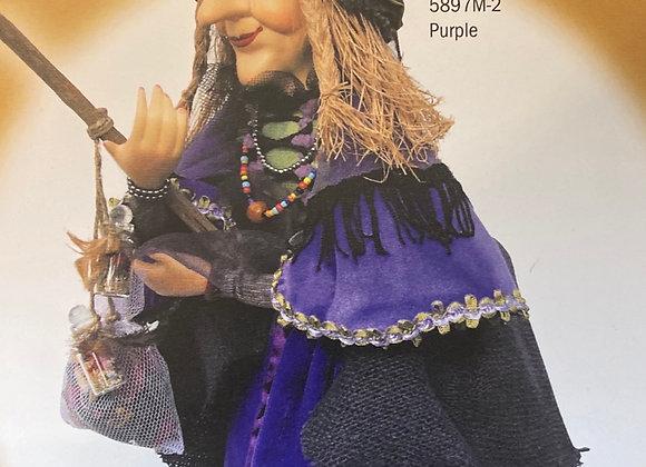 Alice Nutter witch 🧙♀️ purple 50cm