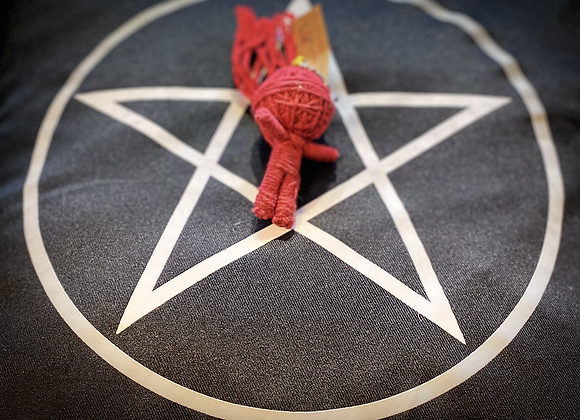 Voodoo Doll Keyring - Red Ninja